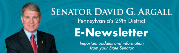 Senator David Argall E-Newsletter
